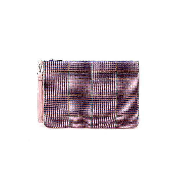 LIKE DREAMS Plaid Laptop Clutch