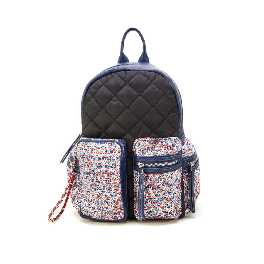LIKE DREAMS Quilted Boucle Pocket Backpack