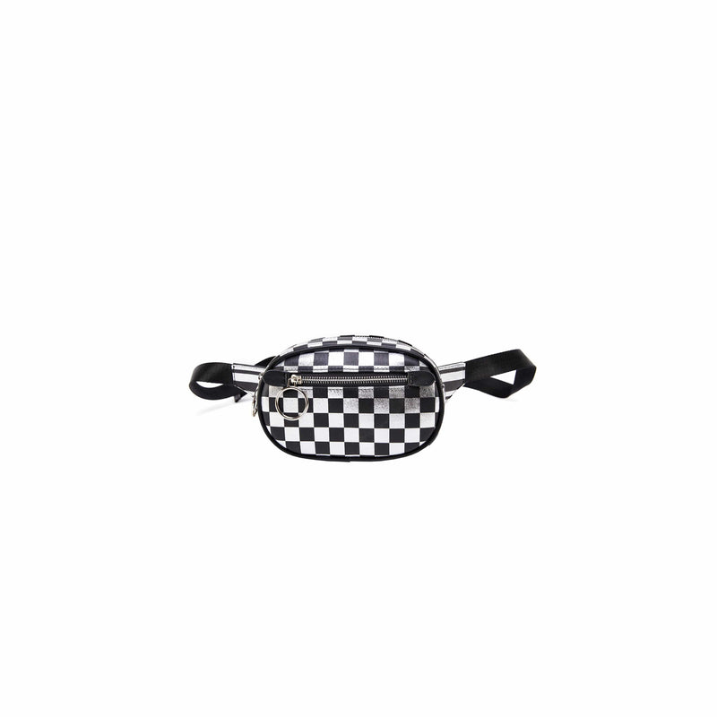 LIKE DREAMS Checkered Front Pocket Waist Bag