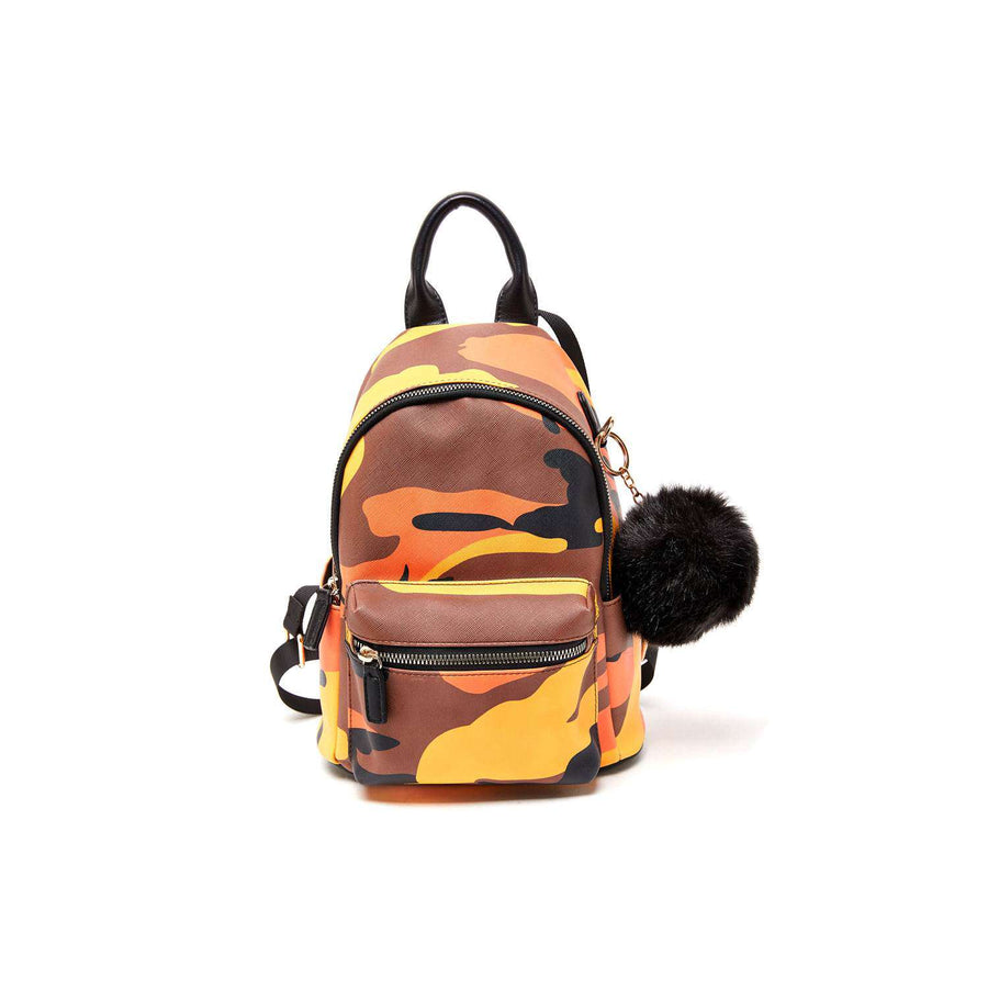 LIKE DREAMS Camo Pom Pom Mini Backpack