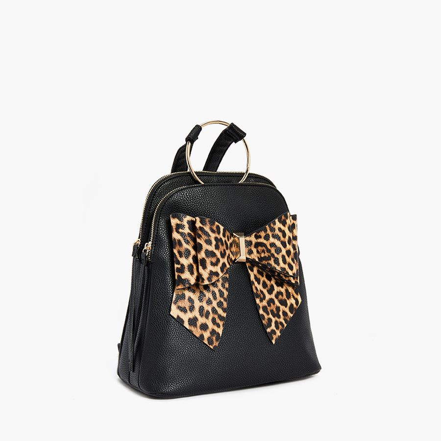 LIKE DREAMS Leopard Bowtie Backpack