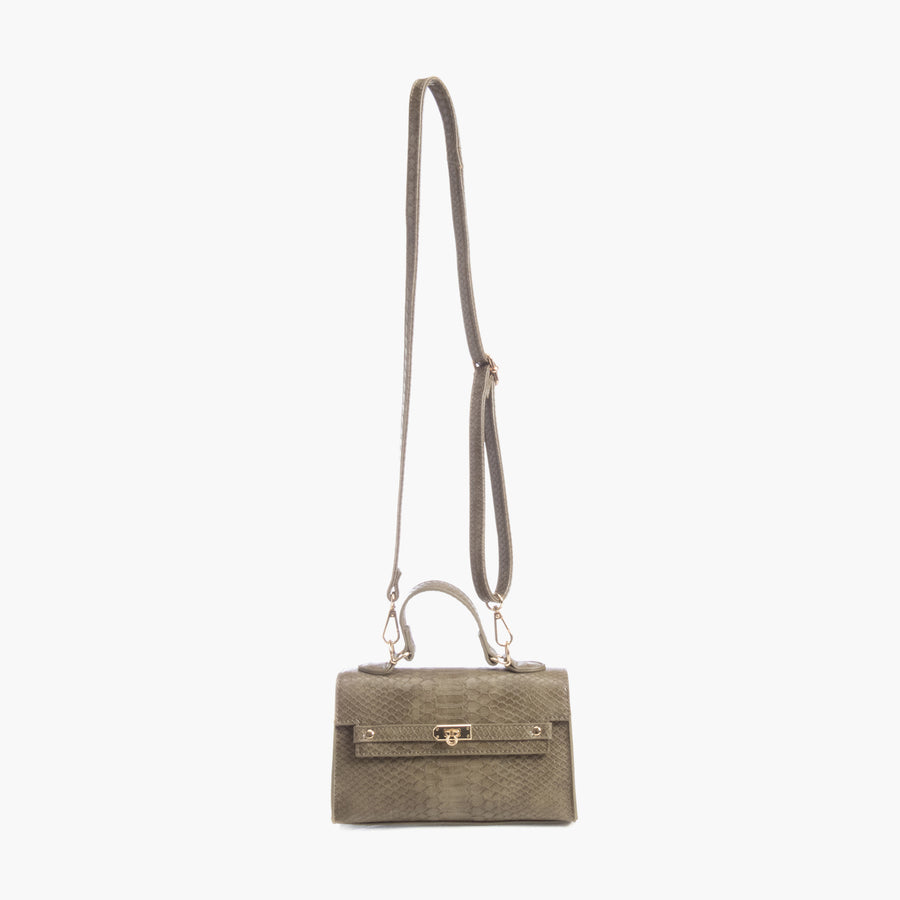 LIKE DREAMS Python Top Handle Satchel