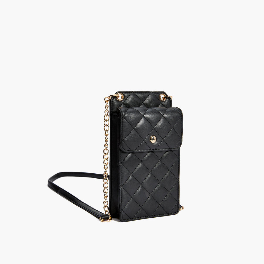 LIKE DREAMS Quilted Phone Crossbody