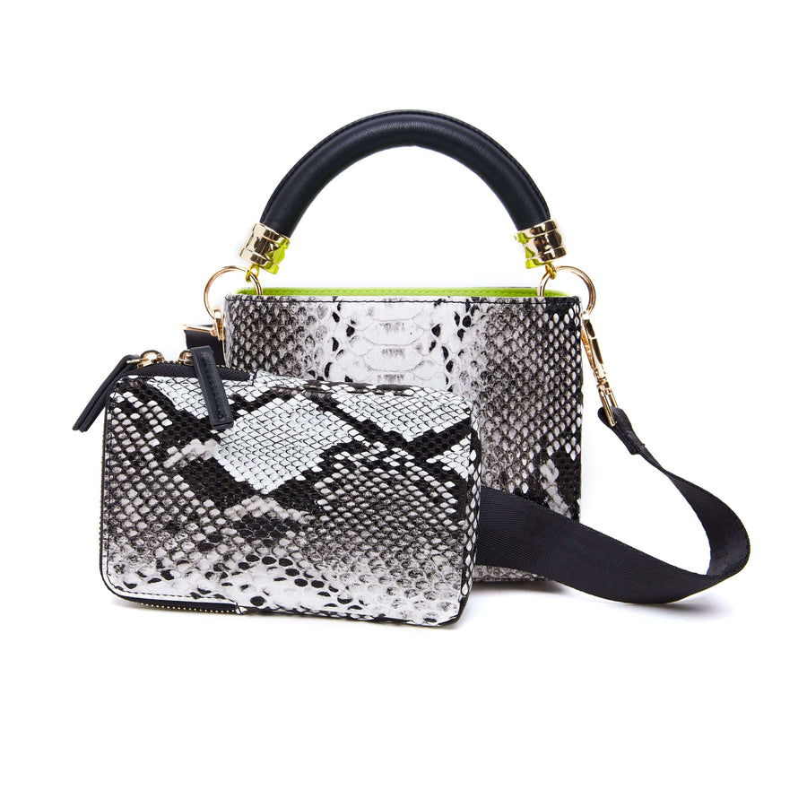 LIKE DREAMS SNAKESKIN CROSSBODY & HANDLE BAG SET