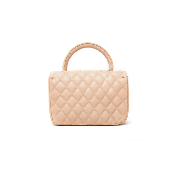 LIKE DREAMS Quilted Plush Handbag