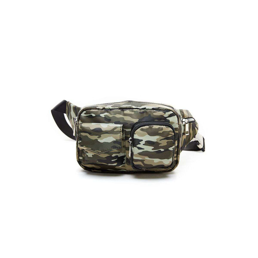 LIKE DREAMS Nylon Camo Fanny Pack