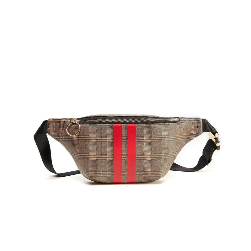 Like Dreams Racer Stripe Plaid Fanny Pack - shoplikedreams