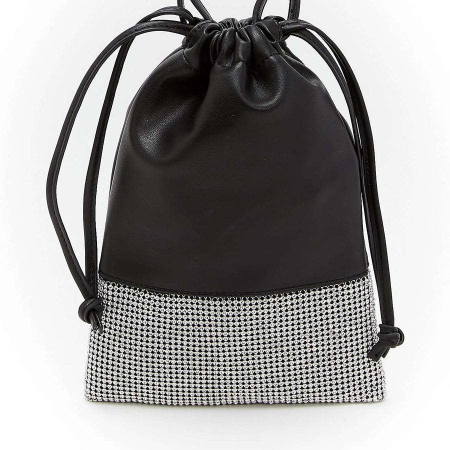 LIKE DREAMS Studded Pouch Satchel