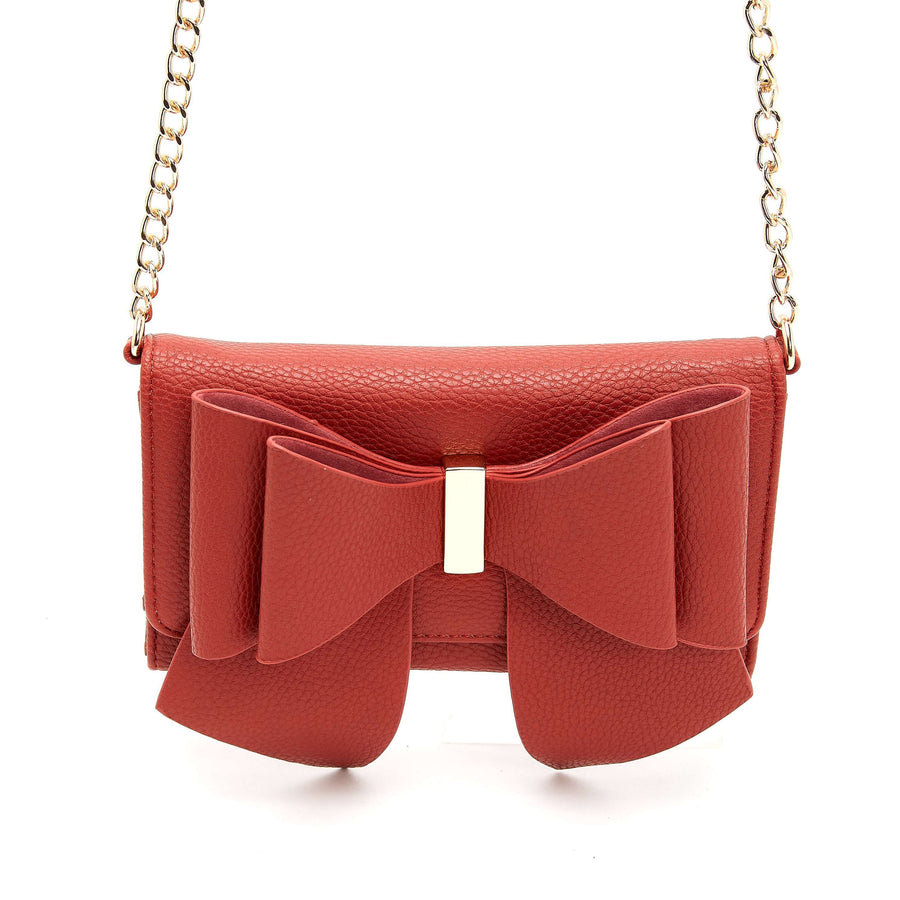 LIKE DREAMS Double Bow Tie Crossbody