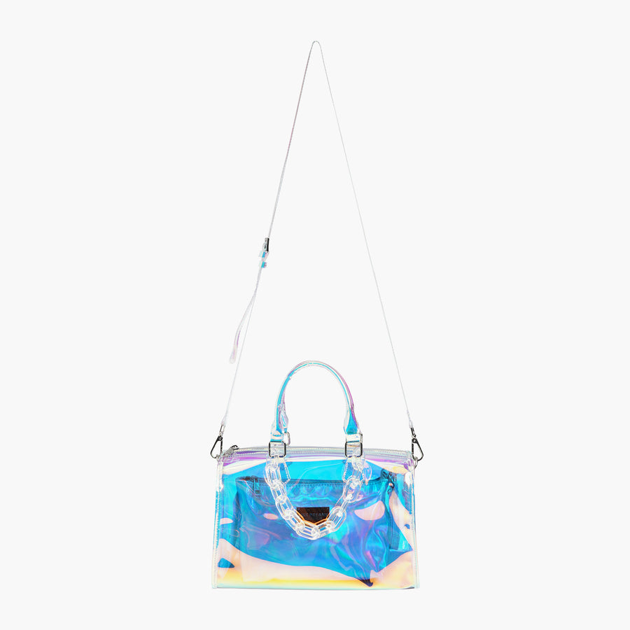 LIKE DREAMS Iced Out Hologram Satchel