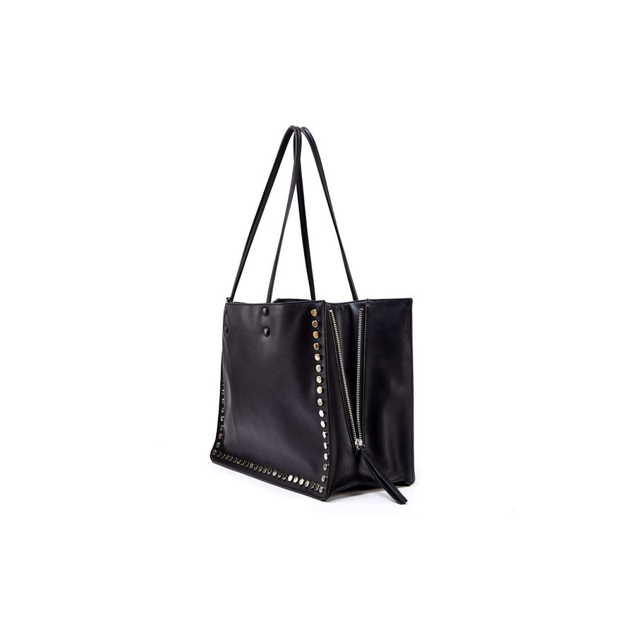 Reversible Two-Tone Studded Tote Bag