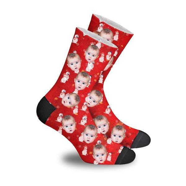 Custom Snowman Face Socks Photo Socks - Make Custom Gifts