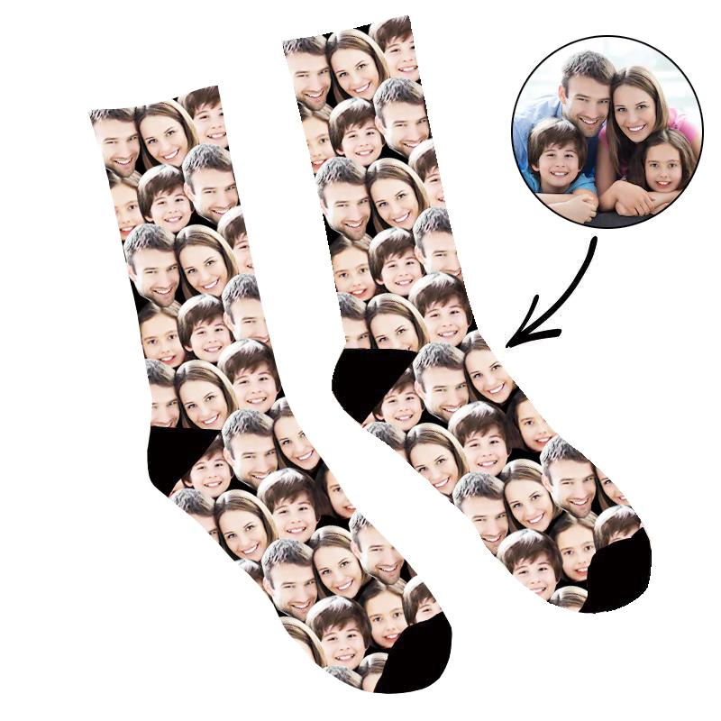 Custom Family Face Mash Up Socks - Make Custom Gifts