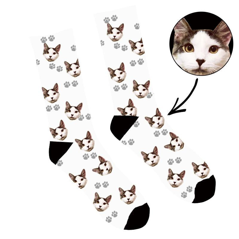 Custom Face Socks Your Cat On Socks - Make Custom Gifts