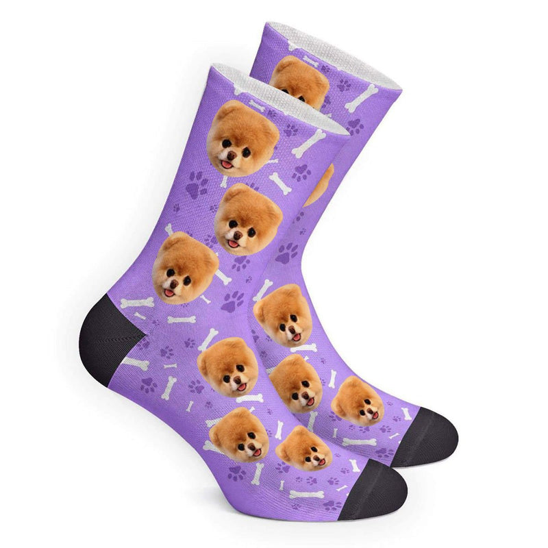 Custom Dog Footprint Photo Socks - Make Custom Gifts