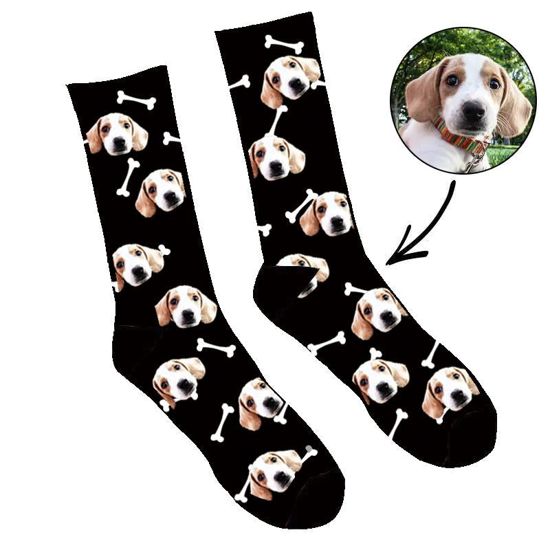 Custom Dog's Face Socks - Make Custom Gifts