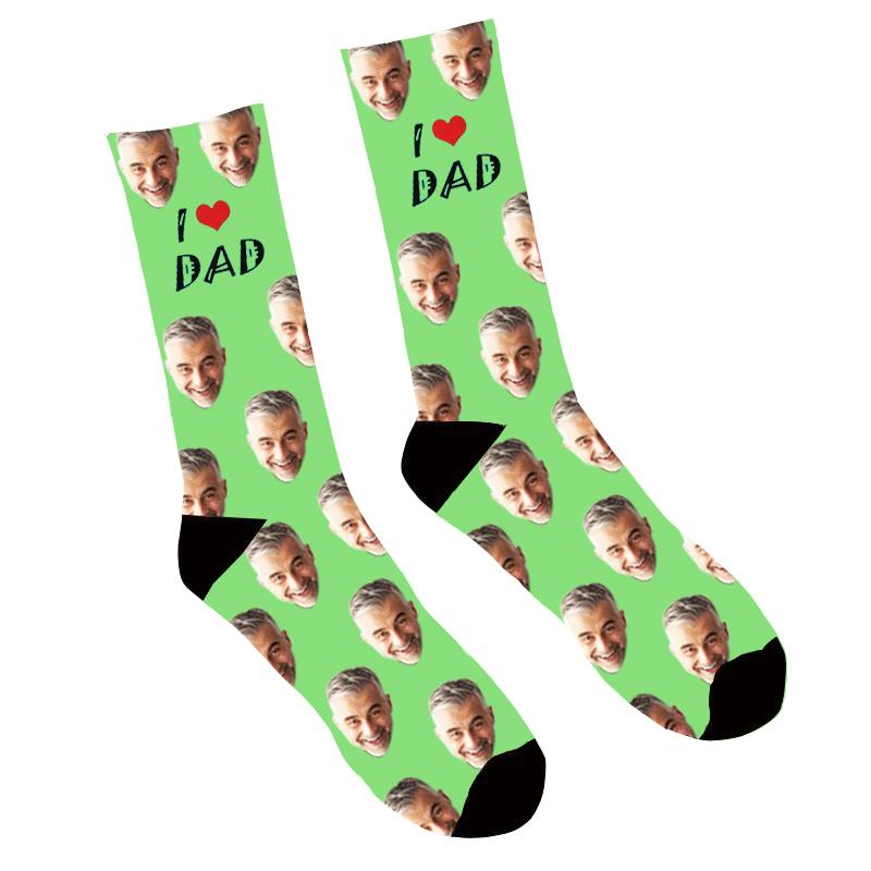 Custom Face Socks I Love Dad - Make Custom Gifts