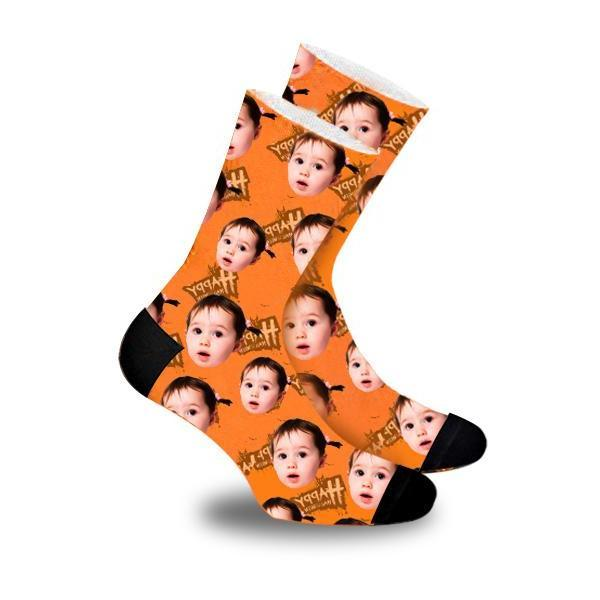 Custom Socks Halloween Theme Photo Socks - Make Custom Gifts