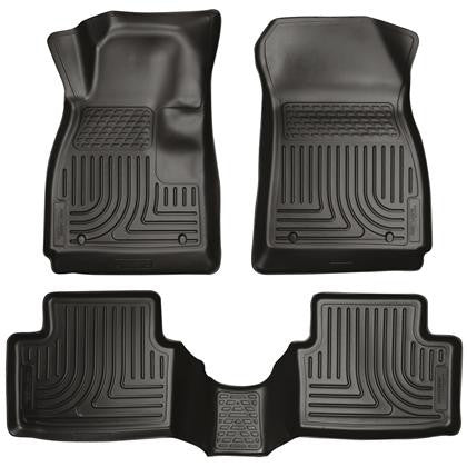 Husky Liners Husky Liners WeatherBeater Black Front & Back Seat Floor Mats - 2011-2016 Ford Fiesta
