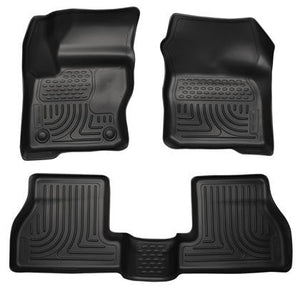 Husky Liners Husky Liners WeatherBeater Black Front & Back Seat Floor Mats - 2012-2015 Ford Focus