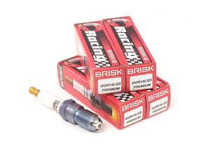 Brisk Brisk Premium LGS Spark Plugs (4 Pack) - Ford Focus Duratec (One step colder) - 1