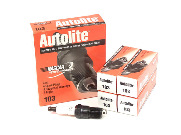 Autolite Autolite 103 Spark Plugs 4 Pack - Ford Focus Duratec 2.0L & 2.3L - One Step Colder - 1