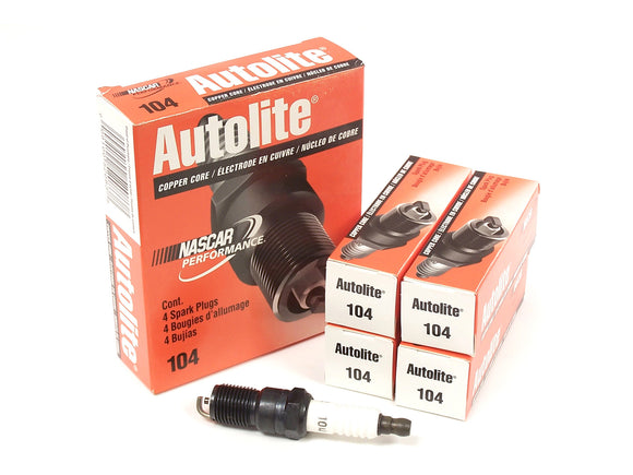 Autolite Autolite 104 Spark Plugs  (4 Pack) - Ford Focus Duratec 2.0L & 2.3L - 1