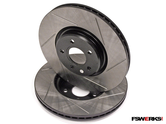 Stoptech StopTech Front Slotted Sport Rotors - Ford Focus ST / Escape - Volvo C70 / S40 / V50