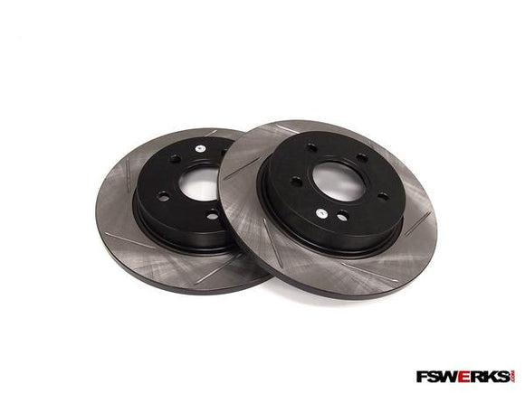 Power Slot Slotted Rear Rotors Pair - Ford Focus SPI/Zetec/Duratec 2.3L/Fiesta ST