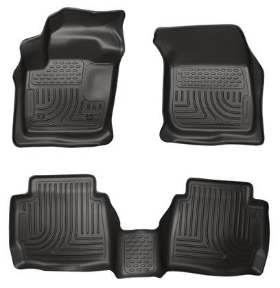 Husky Liners Husky Liners WeatherBeater Black Front & Back Seat Floor Mats - 2013-2014 Ford Fusion