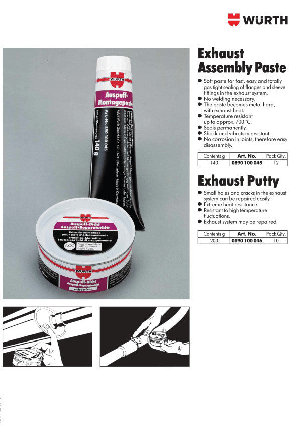 WURTH Exhaust Assembly Paste - 140g