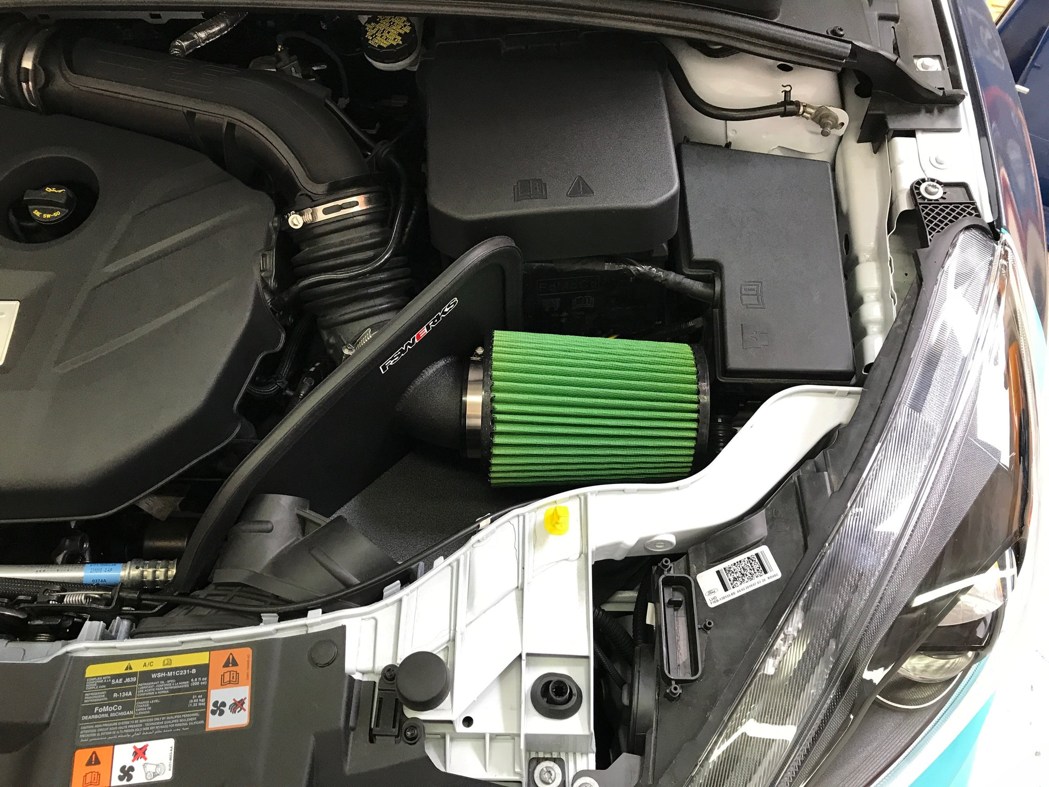 Fswerks Green Filter Cool Flo Air Intake System Ford Focus St 2013 2