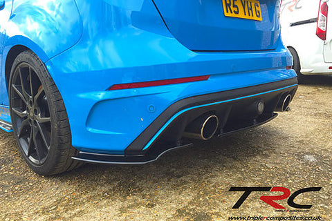TRIPLE R COMPOSITES REAR SKIRTS/SPATS V2 -  FORD FOCUS RS 2016+