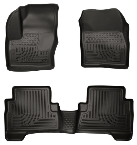 Husky Liners Husky Liners WeatherBeater Black Front & Back Seat Floor Mats - 2013-2014 Ford Escape