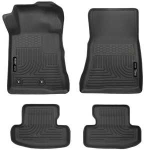 Husky Liners Husky Liners WeatherBeater Black Front & Back Seat Floor Mats - 2015 Ford Mustang