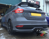 BLEMISHED TRIPLE R COMPOSITES REAR SKIRTS/SPATS -  FORD FOCUS ST 2015-2018