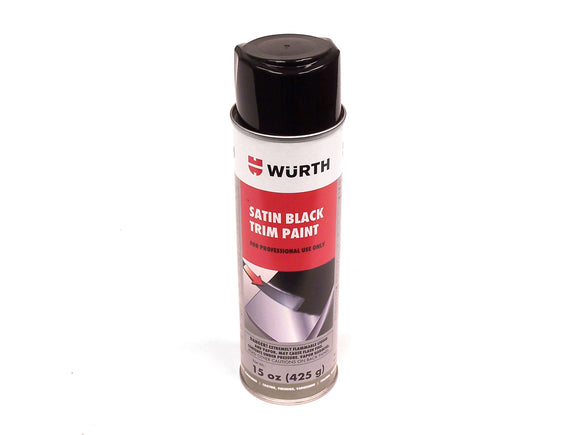 WURTH Satin Black Trim Paint - 15 oz