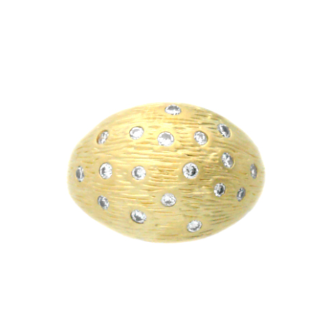 Anillo Alloy Wood Pattern Dome