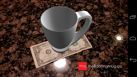 Floating Mug App Rendered