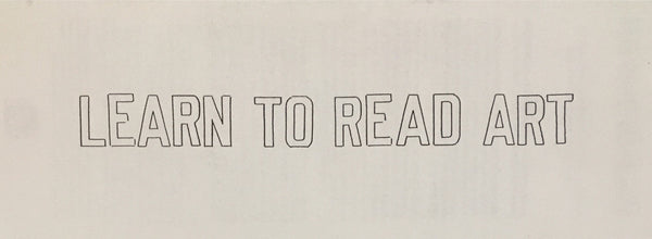 Learn to Read Art (Lawrence Weiner)