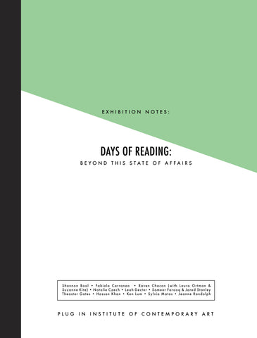 Exhibition Notes: Days of Reading: beyond this state of affairs