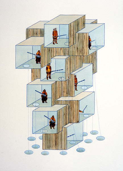 Simon Hughes- Modular Ice Fishing Tower- UNFRAMED