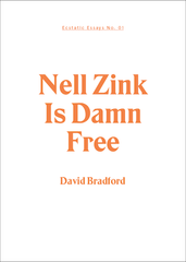 Ecstatic Essays 01: Zink is Damn Free: David Bradford