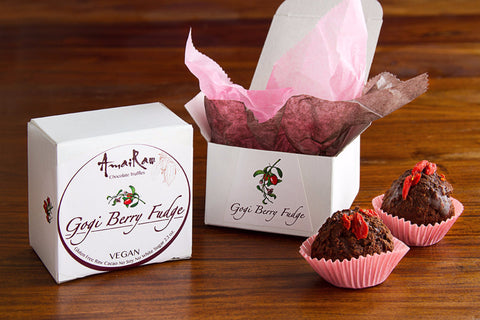 Gogi Berry Fudge VEGAN 2 Fudge Truffles/Pack 2.2 oz.