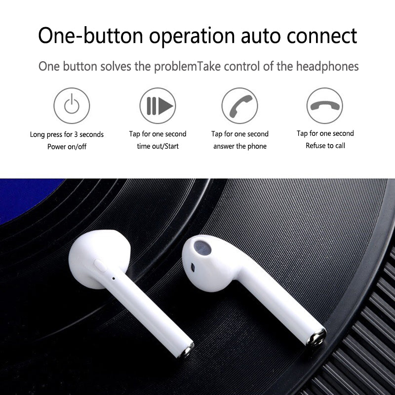 i7s TWS Sport Bluetooth Headset with Stereo Wireless Microphone