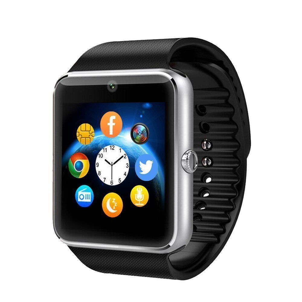 Bluetooth Smart Watch GT08 With Touch Screen Big Battery Support TF