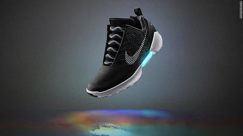 Nike self lacing shoe