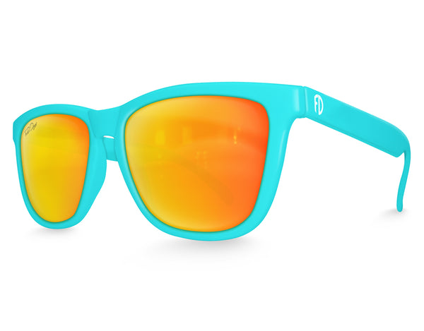 Aqua Solar Mirrored Sunglasses