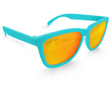 Aqua Solar Mirrored Sunglasses - Faded Days