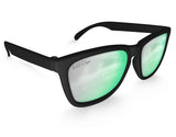 Black High Shine Mirrored Sunglasses